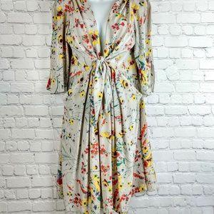Baraschi feminine silk floral dress S